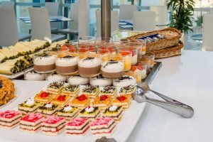 Selection of desserts and sweets